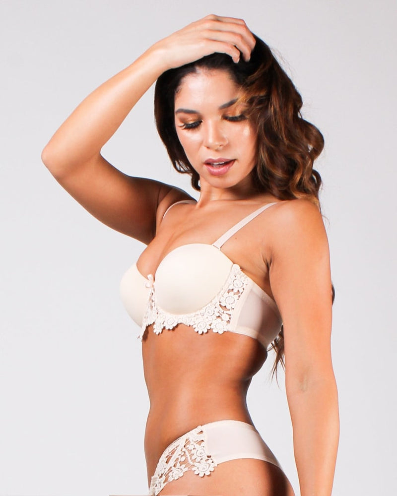 Cant Stop Thinking About You Bra Beige / 32B