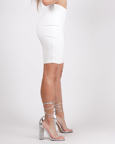 Catch Me Pencil Skirt (Ivory) Bottoms