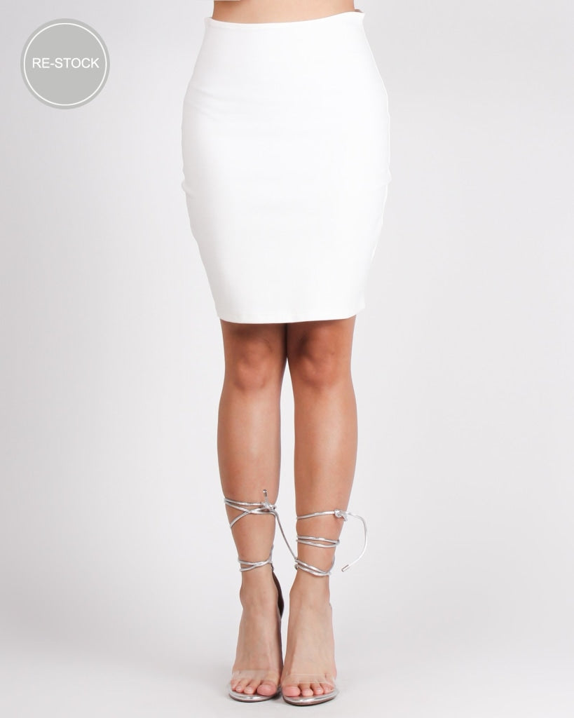 Catch Me Pencil Skirt (Ivory) Ivory / S Bottoms