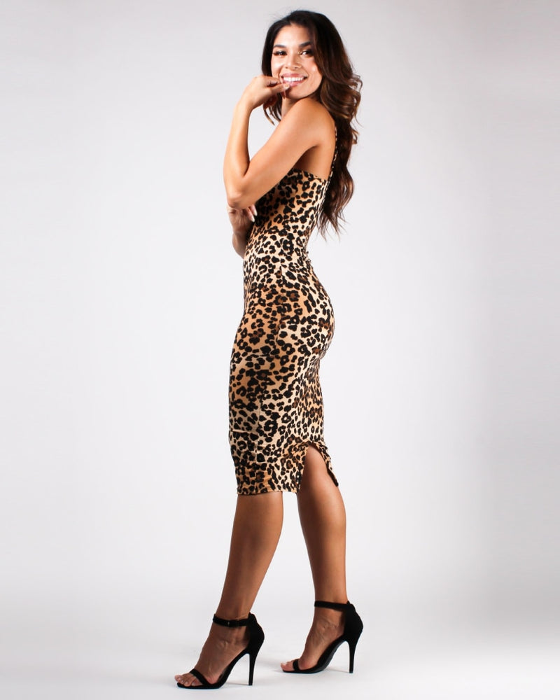 Chase After Your Rawrr-Ing Passion Bodycon Dress Cheetah / S Dresses