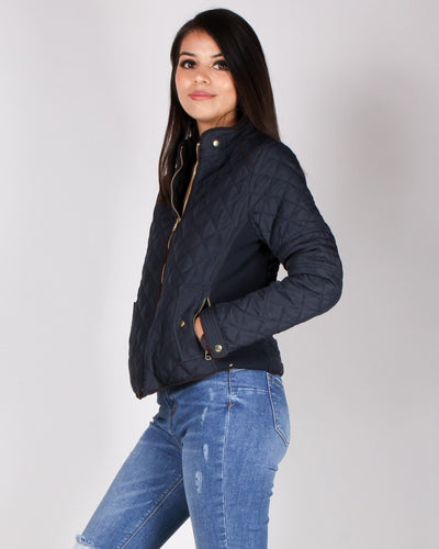 Chasing The Wind Quilted Jacket (Navy) Outerwear