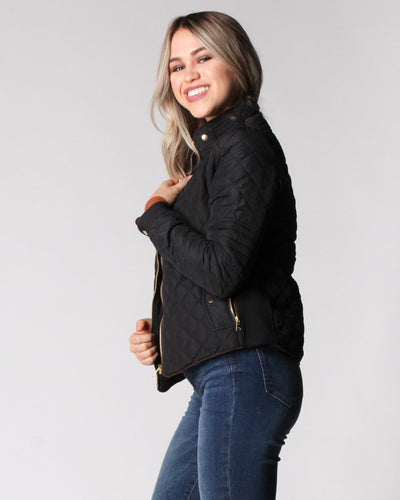Fashion Q Shop Q Chasing The Wind Quilted Jacket (Black) 8846JS