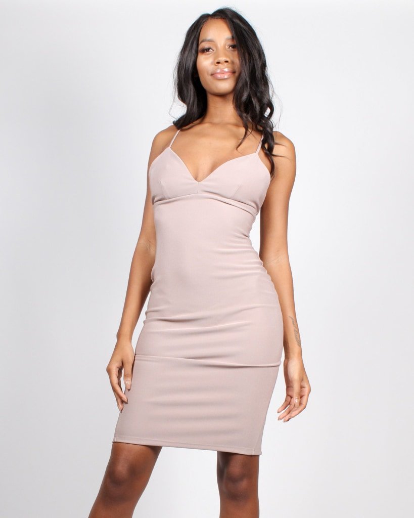 Choose To Shine Bodycon Dress S / Mocha Dresses