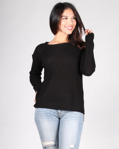 County Fair Knit Sweater S / Black Tops