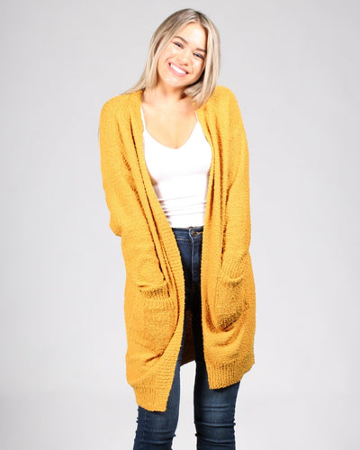 Cuddle Buddy Cardigan S/m / Mustard Outerwear