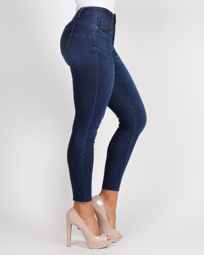 Cutie With A Bootie Skinny Jeans (Dark) Bottoms