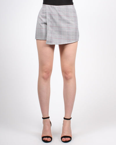 Daily Plaid-Itude Skort S / Plaid With Red Stripe Bottoms