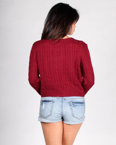 Delightfully Sinful Knit Crop Top