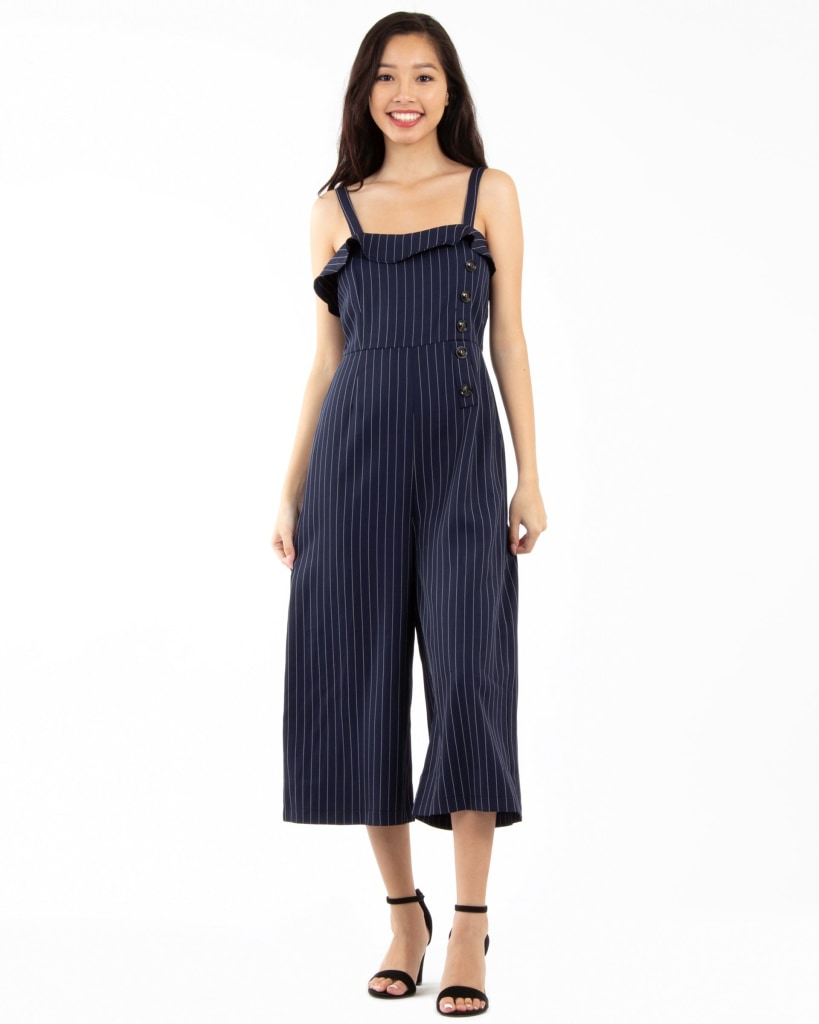 Dick Tracy Jumpsuit S / Navy Striped