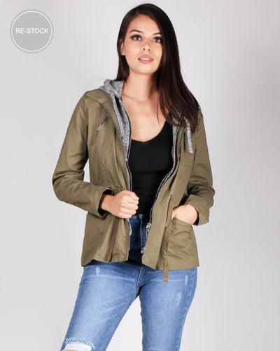 Dont Be Afraid To Fall Cargo Jacket (Army) Army / S Outerwear