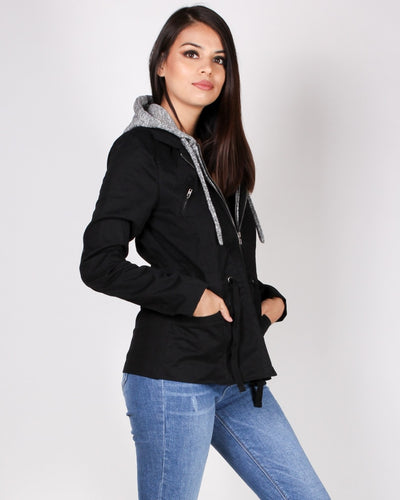 Dont Be Afraid To Fall Cargo Jacket (Black) Outerwear