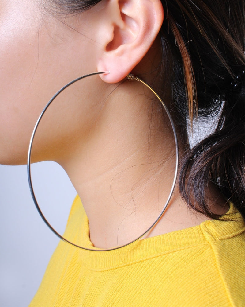 Dont Wait Hoop Earrings (Silver) Silver / One Accessories