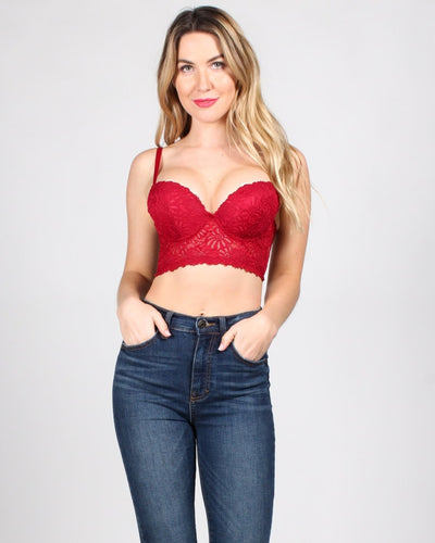 Dream On Lace Bustier 32B / Red Intimates