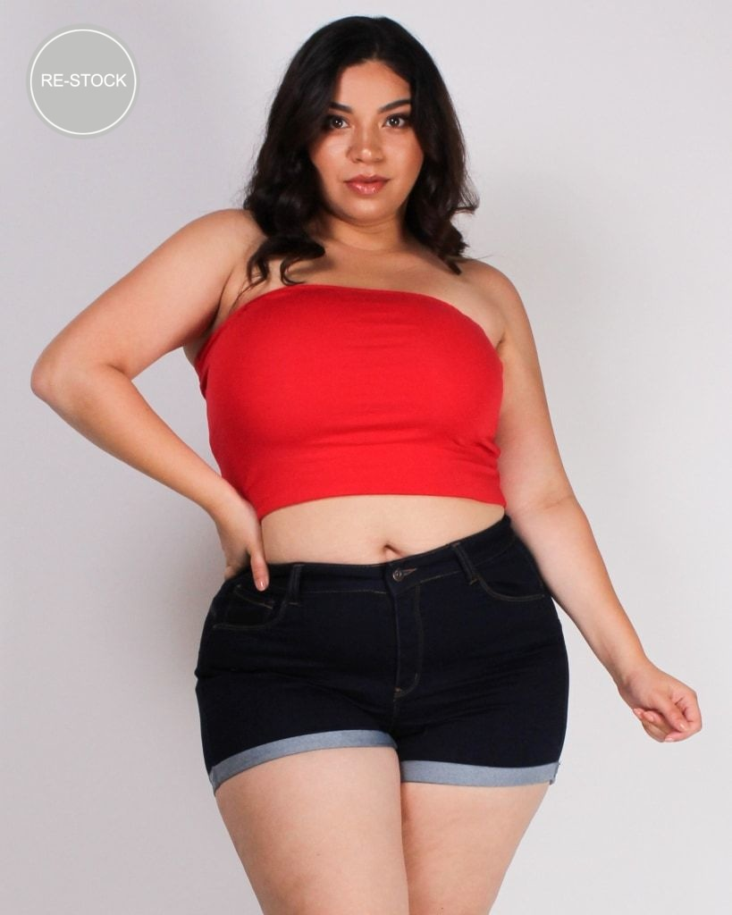 Endless Sunshine Plus Tube Top (Red) Red / Xl Top