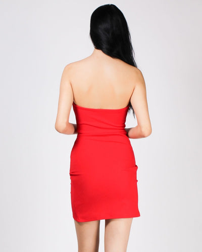 Enjoy Every Pleating Moment Strapless Dress Dresses