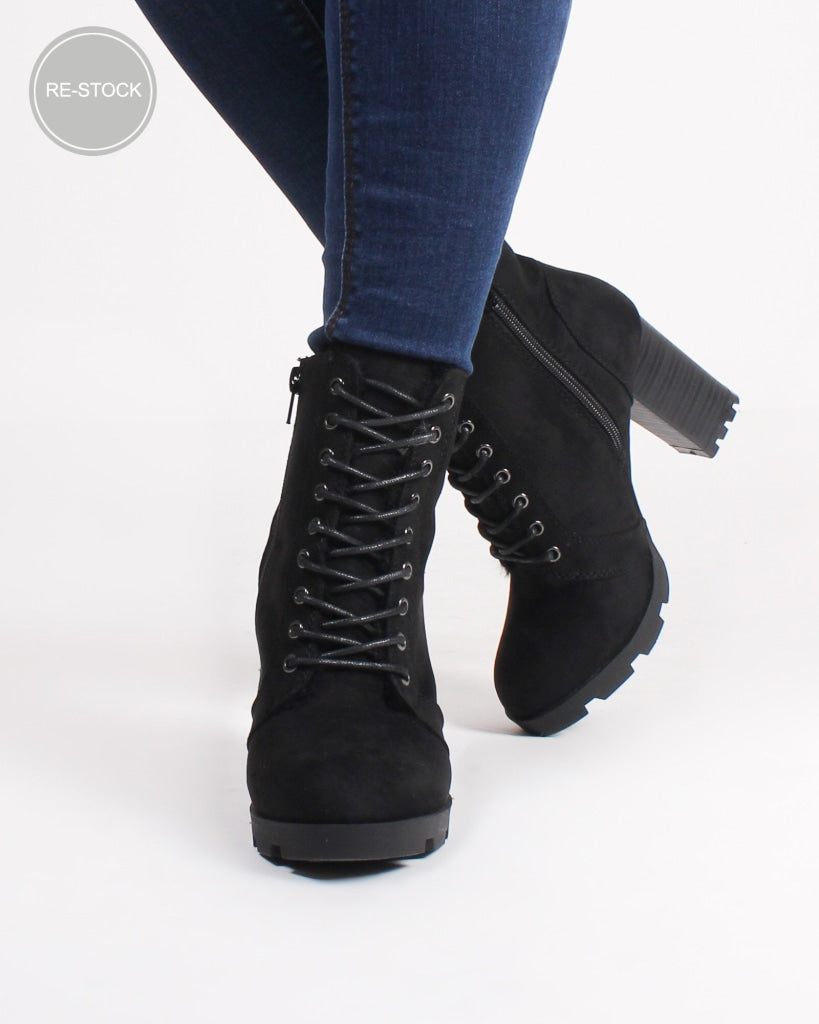 Eugene Combat Booties (Black) Black / 5 Shoes