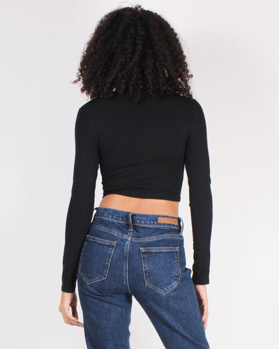 Every Single Day Style Long Sleeve Crop Top Tops