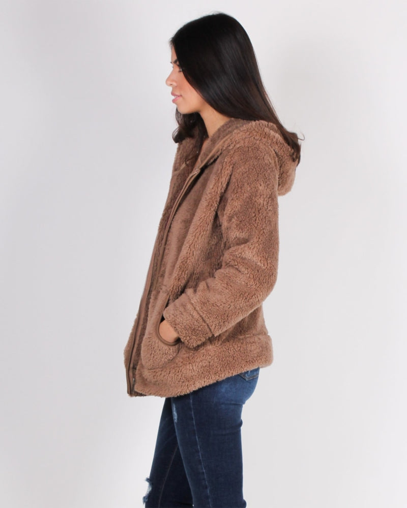Everything You Imagine Is Fur-Real Hoodie (Mocha) Mocha / S Outerwear