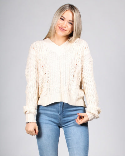 Fall Into Me Sweater S / Cream Tops