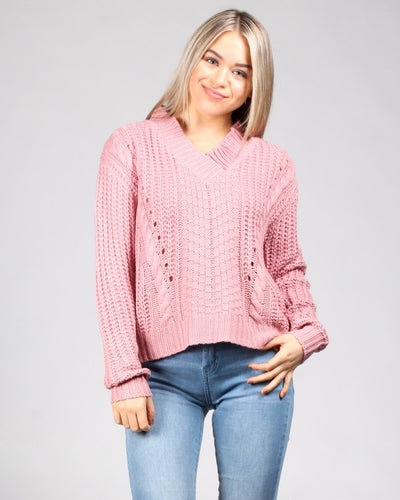 Fall Into Me Sweater S / Pink Tops