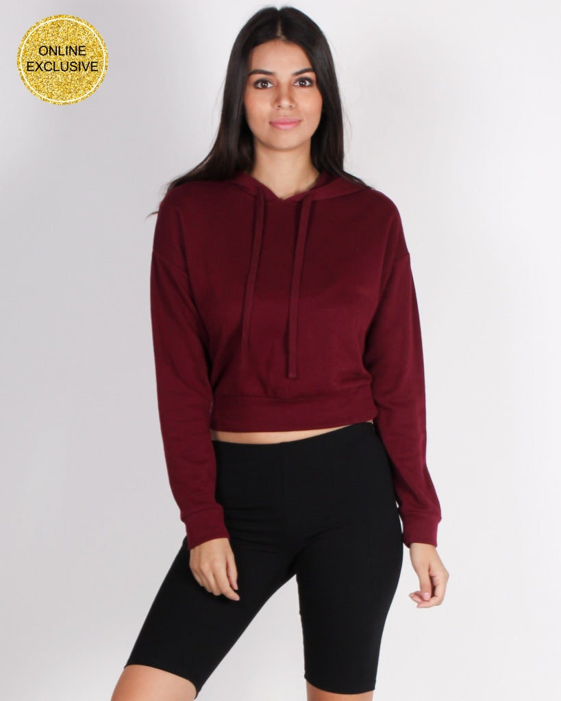Finish Strong Hooded Top (Burgundy) Tops