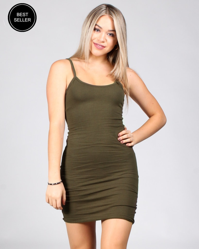 Flawless Beauty Bodycon Dress S / Olive Dresses
