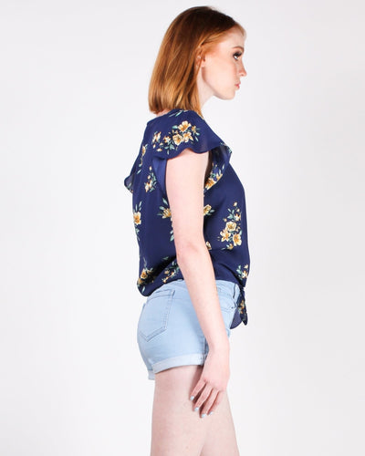 Flo-Ralida Blouse (Navy) Tops