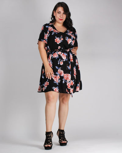 Floral Looks Good On You Plus Dress Dresses