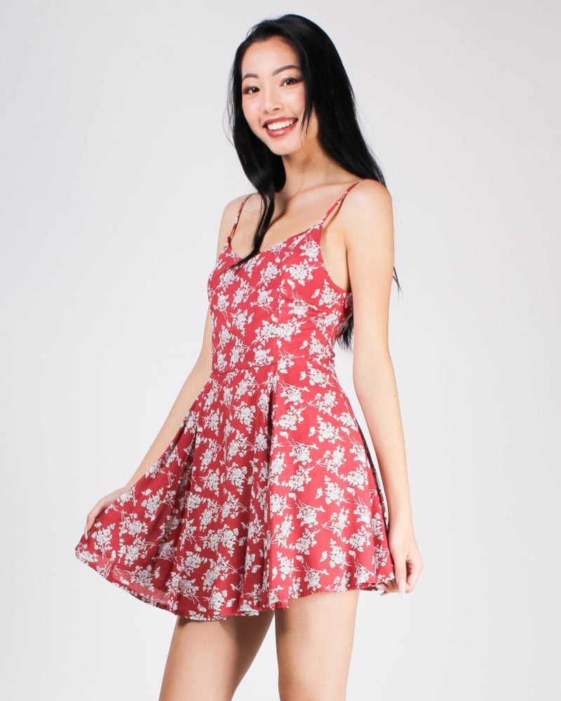 Florally Yours Sundress Berry / S Dresses