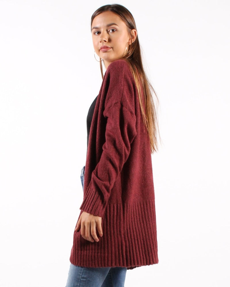 Follow My Lead Cardigan S/m / Plum