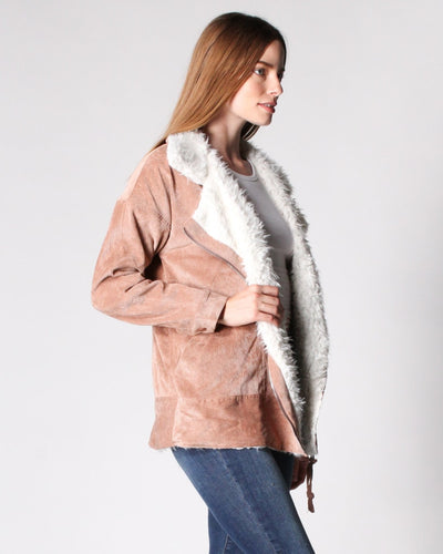 Fur My Love Corduroy Jacket