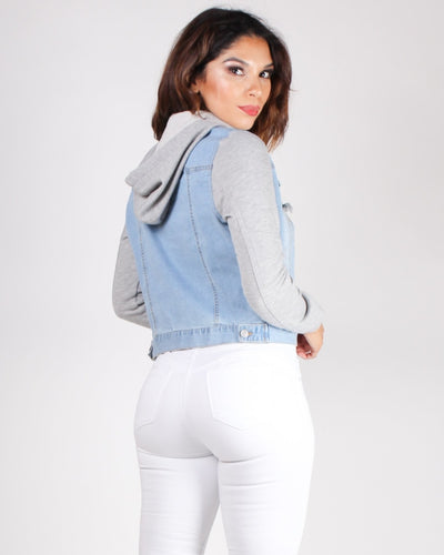 Get In My Life Denim Jacket (Light) Outerwear