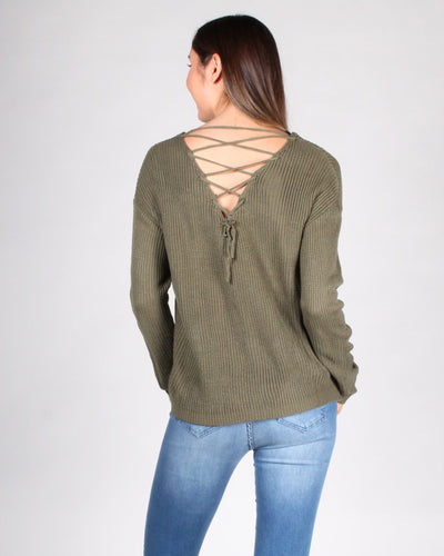 Get Me Through Sweater S / Hunter Green
