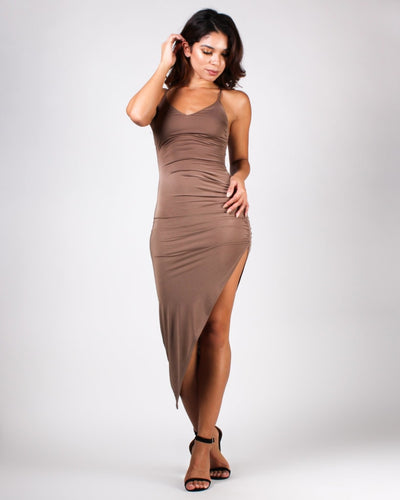 Give A Glam Dress Mocha / S Dresses