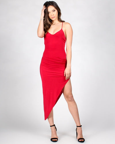 Give A Glam Dress S / Red Dresses