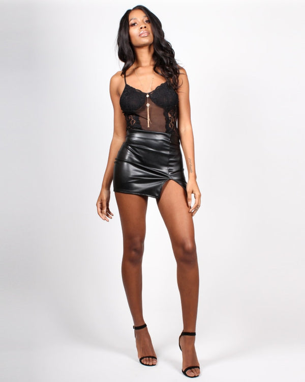 02390504d7 Glamming Perfect Pleather Mini-Skirt - Shop Q