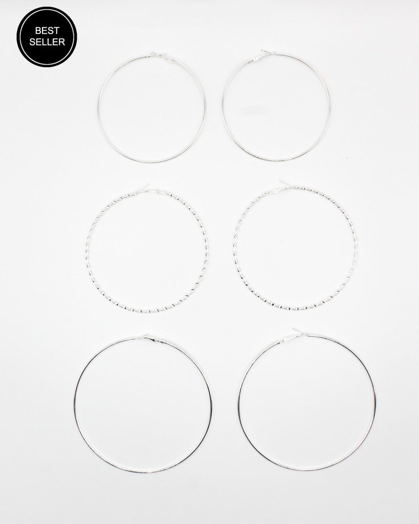 Glow Boo Hoops (Silver) Silver / One Accessories