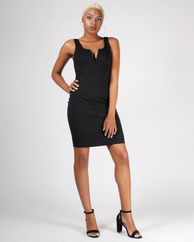 Goal Digger Bodycon Dress S / Black Dresses