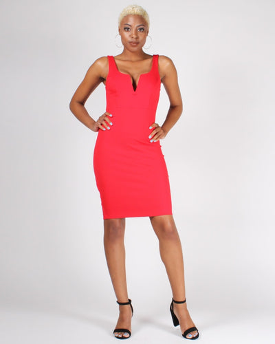 Goal Digger Bodycon Dress S / Red Dresses