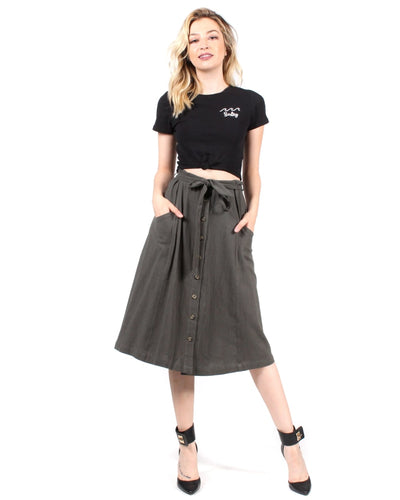 Good Day Sunshine Skirt S / Olive Bottoms