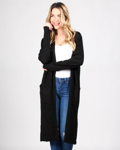 Good Times Knit Cardigan S / Black Outerwear