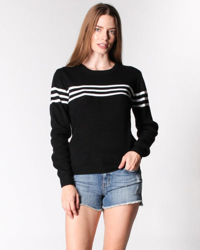 Got The Case Of Stripes Sweater S / Black With Ivory Tops