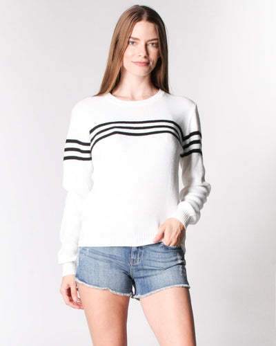 Got The Case Of Stripes Sweater S / Ivory With Black Tops