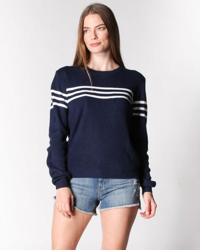 Got The Case Of Stripes Sweater S / Navy With Ivory Tops