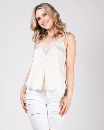 Grateful Heart Cami Champagne / S Tops