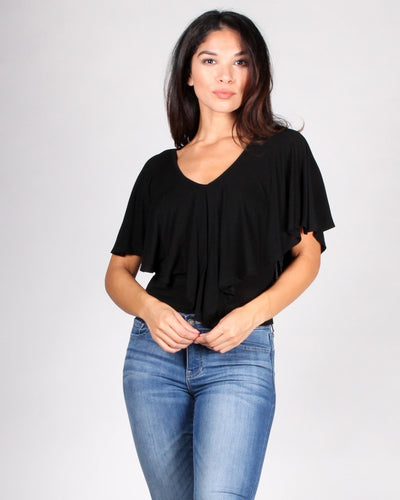Gypsy Soul Flounce Top S / Black