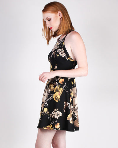 Happiness Blooms From Within Sundress (Black) Dresses