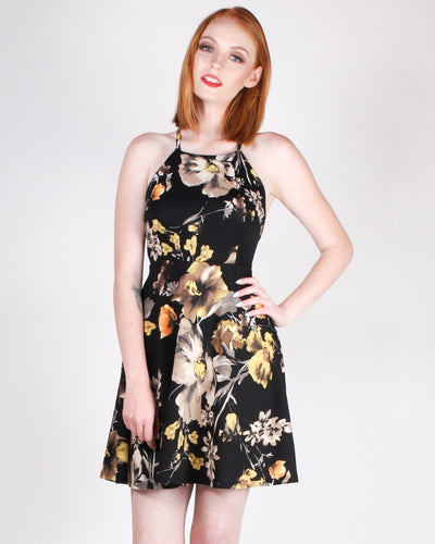 Happiness Blooms From Within Sundress (Black) Black / S Dresses
