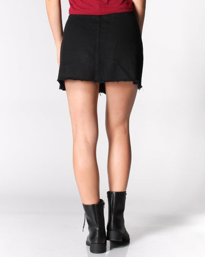 Having The Best Time Button Front Mini Skirt Bottoms