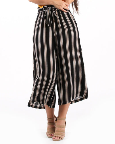 High On Life Striped Pants S / Black